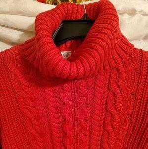 GAP Sweaters - Gap for Good. Women's Turtleneck.  Sz. Large. Red